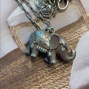 Brighton Jewelry - Brighton Sterling Silver Elephant Pendant Necklace
